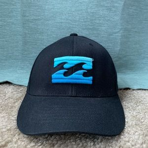 Billabong Fitted Cap - Black And Blue Waves